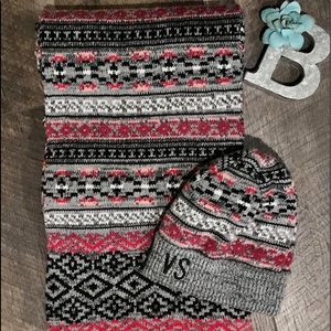 Victoria's Secret beanie and scarf